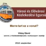 A VEKE prezentációja a 2010. szeptember 15-ei vasúti kerekasztalon